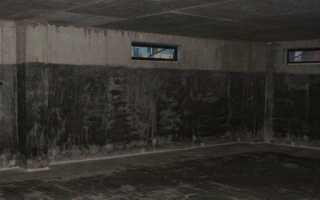 Гидроизоляция подвала в доме изнутри помещения