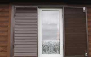 Металлические ставни на окна; виды изделий и технология изготовления своими руками