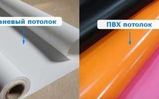 Какой натяжной потолок лучше ПВХ или тканевый; сравнительный анализ