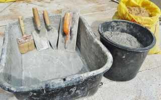 Пропорции для приготовления бетона в домашних условиях