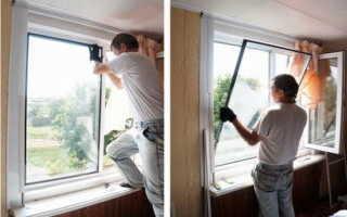 Как снять стеклопакет пластикового окна своими руками