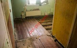 Демонтаж старого деревянного пола своими руками