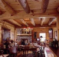 Как в деревянном доме ремонтировать потолки