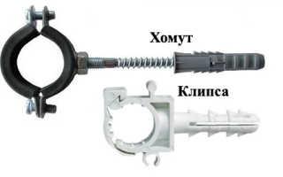 Как правильно выполнить крепление и фиксацию полипропиленовых труб к стене