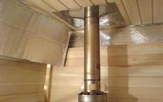 Чем изолировать металлическую трубу дымохода бани