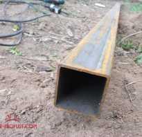 Профильная труба для забора; выбираем для столбов и поперечин, сечение, цена за метр