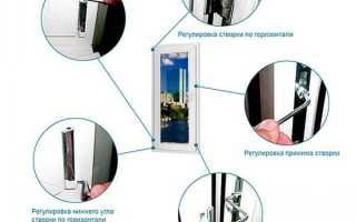 Регулировка балконной пластиковой двери: поясняем по порядку