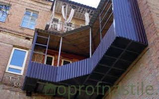 Как обшить балкон профнастилом своими руками