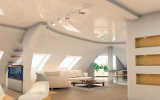 Можно ли применять при отделке мансарды натяжные потолки