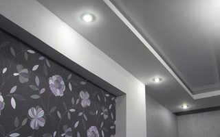 Как выбрать мощность точечных светильников для натяжных потолков
