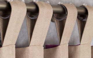 Изготовление петель для штор своими руками