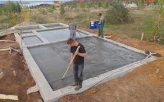 Пошаговая инструкция по возведению плитного фундамента для бани