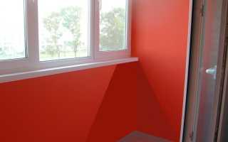 Чем покрасить стены на балконе