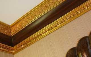 Галтель потолочная: особенности и монтаж