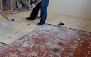 Выравнивание деревянного пола под ламинат