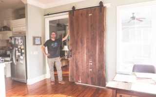 Пошаговая инструкция по изготовлению раздвижных дверей