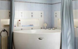Полукруглый карниз для ванной и его установка своими руками