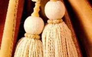 Создаем декоративные украшения для штор и портьер своими руками