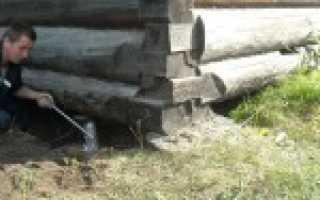 Как поднять деревянный дом своими руками для ремонта