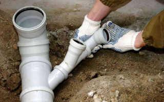 Монтаж внутренней и наружной систем канализации в частном доме