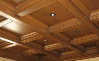 Делаем кессонный потолок своими руками