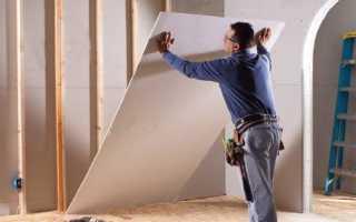 Как крепить гипсокартон к деревянным брускам
