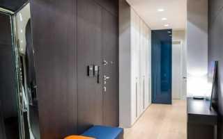 Натяжной потолок с точечными светильниками; 50 лучших фото примеров в прихожей