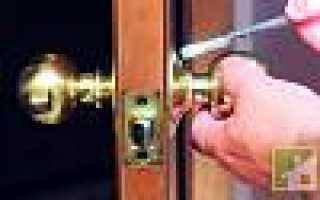 Как правильно разобрать дверную ручку – с замком и без него