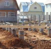 Выбор фундамента для дома из бруса