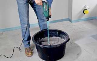Как правильно развести раствор: пропорции цемента, песка