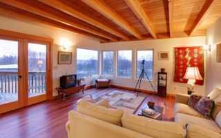 Потолок в деревянном доме; какой лучше сделать
