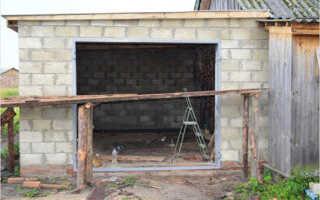 Самостоятельное строительство гаража из шлакоблоков: порядок работы