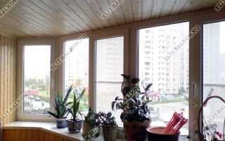 Отделка балкона и лоджии деревянной вагонкой
