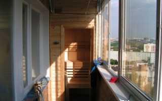 Сауна на балконе: технология строительства