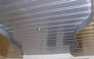 Металлический реечный потолок: виды и установка
