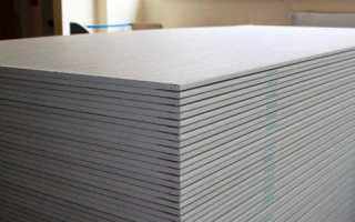 Размер листа гипсокартона: стандартная ширина и длина