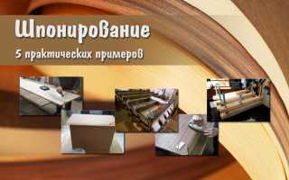 Как делают древесный шпон