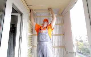 Как самостоятельно утеплить потолок на балконе