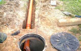 Канализация в частном доме; своими руками: схема и глубина укладки канализационных труб для слива воды