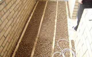 Утепление балкона керамзитом